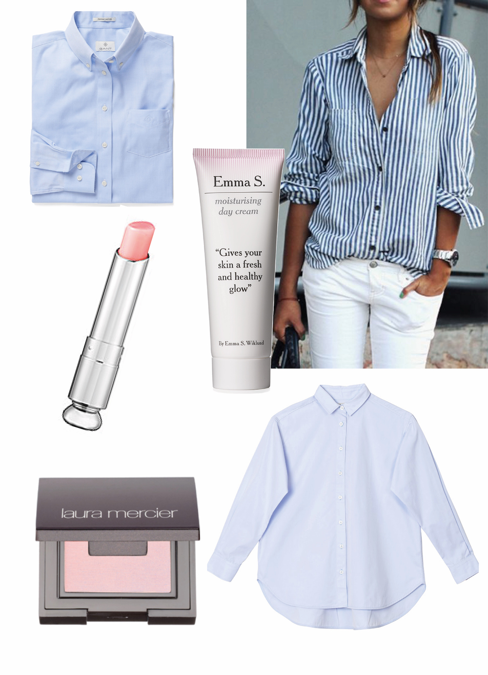 EmmaS-blue-shirt-pink-makeup